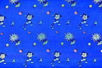 蓝色绸布 传统花纹 高雅花纹 绸缎 花纹