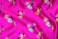 梅色丝布 传统花纹 高雅花纹 传统高贵花纹  绸缎 丝布