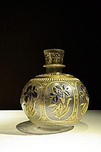鎏金花纹玻璃瓶