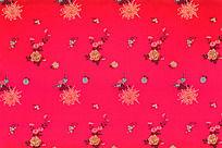 吉祥图案  传统花纹 高雅花纹 梅花 红色底纹 传统吉祥花