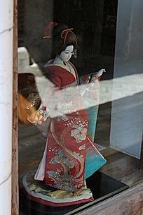 日本艺妓陈列品