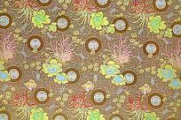 祥云 传统花纹 高雅花纹  传统吉祥花   绸缎 丝布 传统吉祥图案