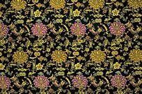 黑色底 金色龙凤花纹  传统高贵花纹