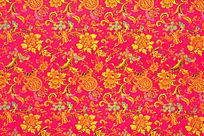 红色龙凤花纹 梅花  传统花纹 红色底纹