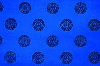 蓝色底纹  传统吉祥图案