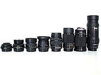 一排相机镜头