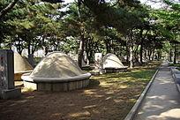 陵园里的墓碑