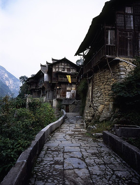 乌江龚滩古镇石板街