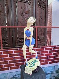 陶瓷福娃雕塑