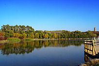 森林公园湖泊风景