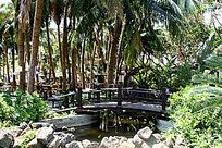 园林中的小桥与水车