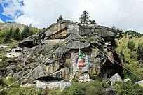 藏区人信仰的刻字石头