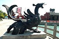 神兽朱雀雕像