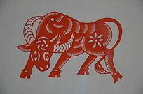 潍坊博物馆馆藏牛形剪纸