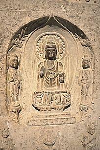 大乘佛菩萨石刻像