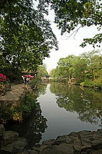 苏州拙政园的园林景观