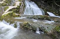 洛阳重渡沟的溪流瀑布