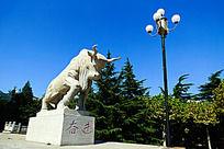 园林石雕动物牛