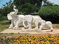 广场上的大象雕塑