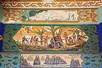 古建筑上彩绘的伏羲始创嫁娶之制和中式传统图案花纹