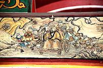 古建筑上彩绘的三国时期诸葛亮形象图片