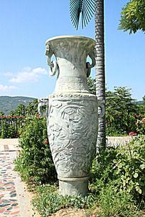 石雕大花瓶