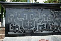 古典花纹图案墙砖雕刻