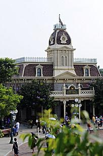 迪士尼的欧式风格建筑