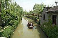 苏州盘门景区的江南水乡风景