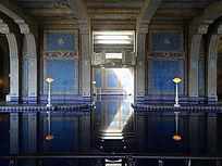 湛蓝赫斯特城堡室内游泳池