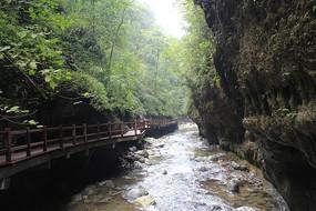 重庆黑山谷峡谷溪流