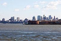 美国曼哈顿的城市建筑景观