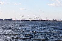 纽约港大海风景
