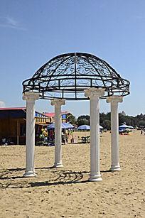 婚纱照婚礼仪式专用布景沙滩欧式凉亭