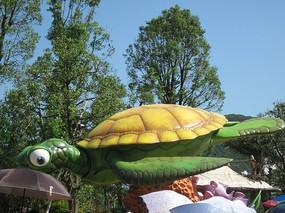 背景 乌龟 动物 模型