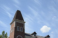 海滨欧式风格建筑屋顶
