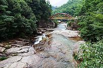 黄山翡翠谷  山谷溪流