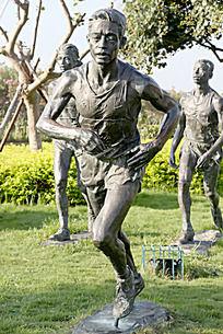 马拉松人物雕塑摄影