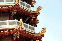 中国传统屋角摄影图片素材