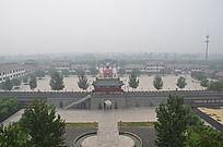 俯拍杨家埠民俗文化广场