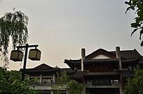 西湖古建筑和古代宫灯