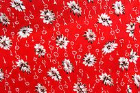 红色花纹图样丝绸贴图
