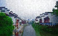 水乡古镇建筑