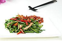 虾干韭菜炒叉烧