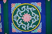 杨家埠民俗文化之横梁上的彩绘