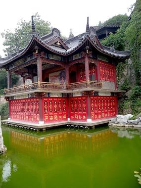 镇江西津古渡的戏台 古建筑