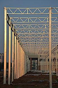 菜博会新建场馆的钢结构