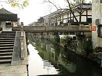 江南水乡一字石桥