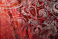 红色花纹布