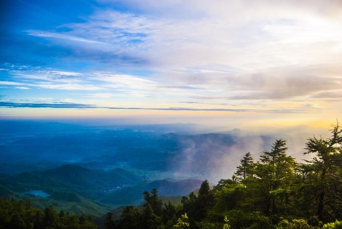 南岳祝融峰衡山清晨